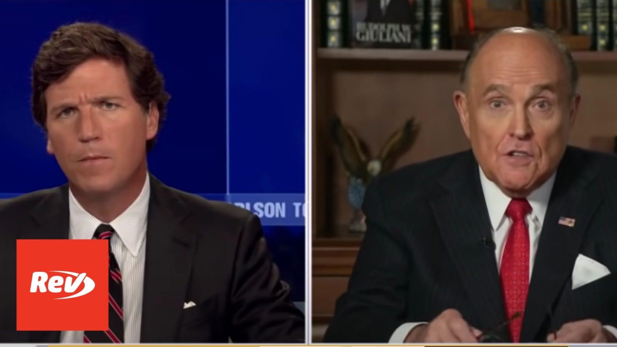 Rudy Giuliani Fox News Interview on FBI Raid Transcript