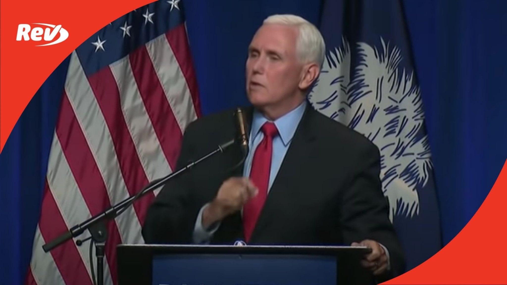 Mike Pence Speech Transcript April 29: First Speech Since Leaving Office