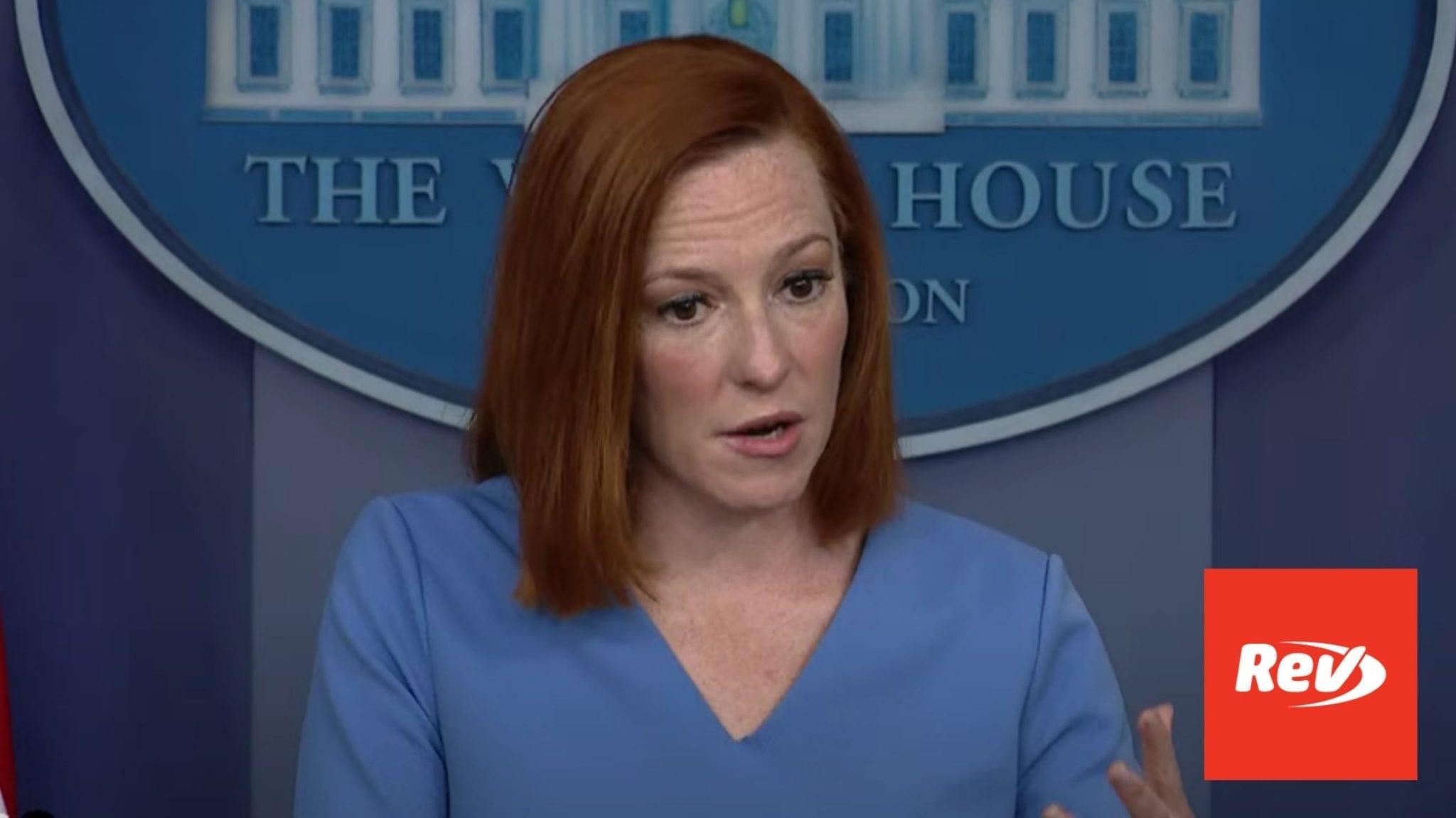 Press Secretary Jen Psaki White House Press Conference Transcript April 14