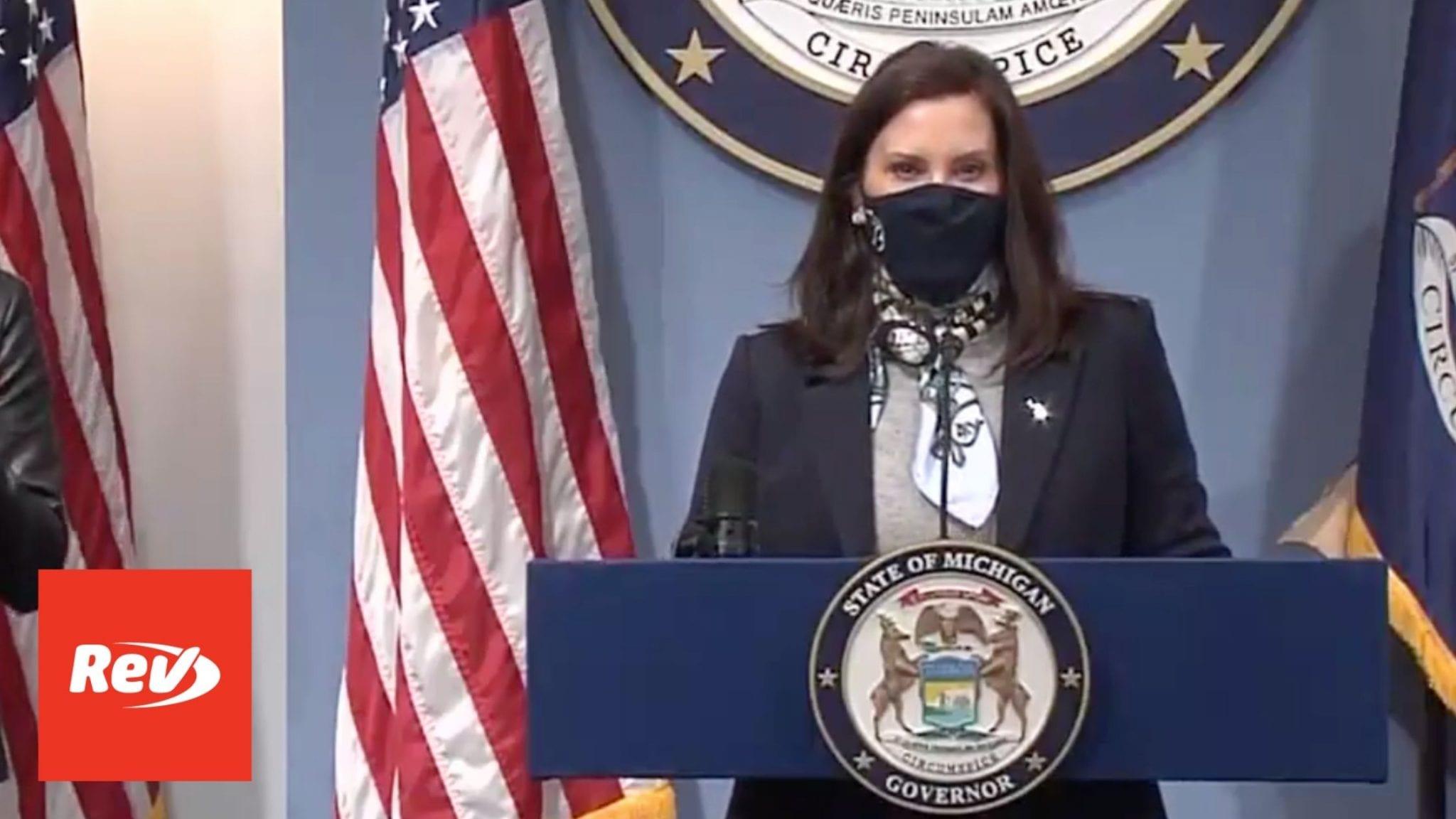 Michigan Governor Gretchen Whitmer COVID-19 Press Conference Transcript April 14