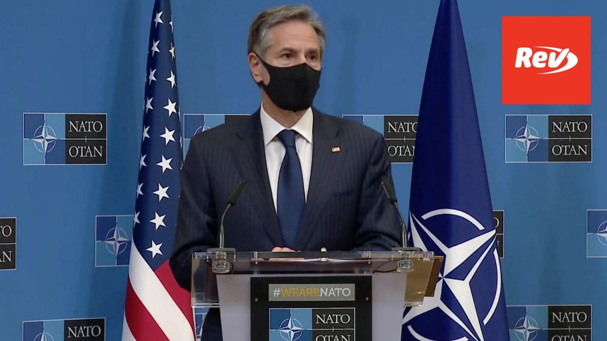 Sec. of State Antony Blinken, Defense Sec. Lloyd Austin NATO Press Conference Transcript April 14