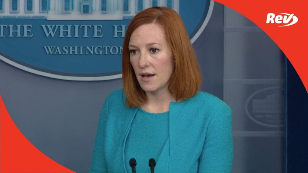 Press Secretary Jen Psaki White House Press Conference Transcript April 15