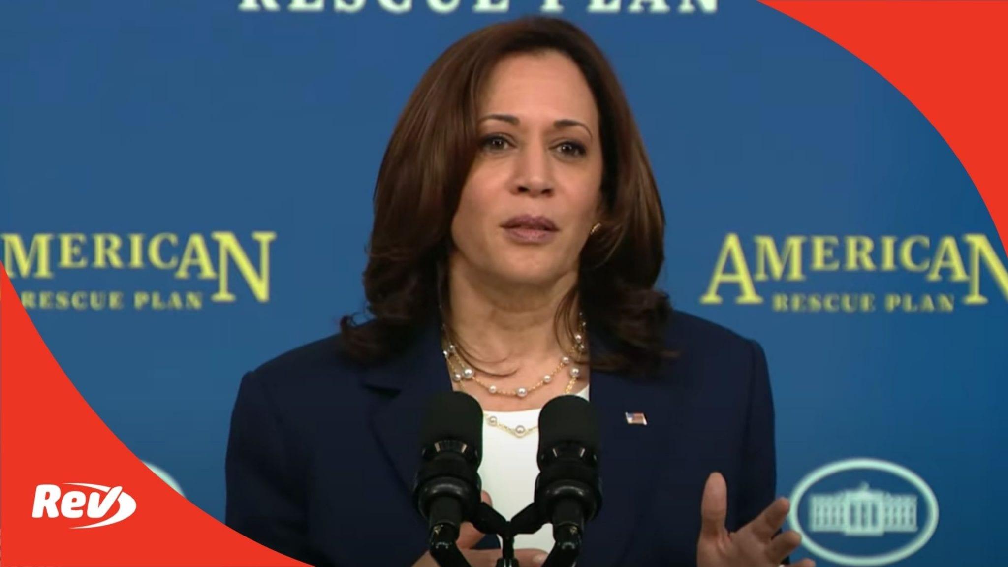 Kamala Harris Speech Transcript April 15: American Rescue Plan's Investment in Child Care