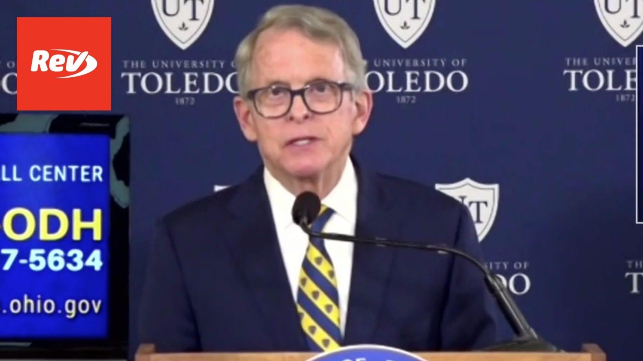 Ohio Gov. Mike DeWine COVID-19 Press Conference Transcript April 15