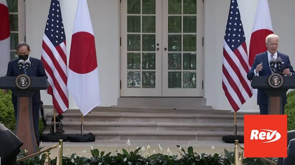 Joe Biden, Prime Minister of Japan Yoshihide Suga Press Conference Transcript April 16