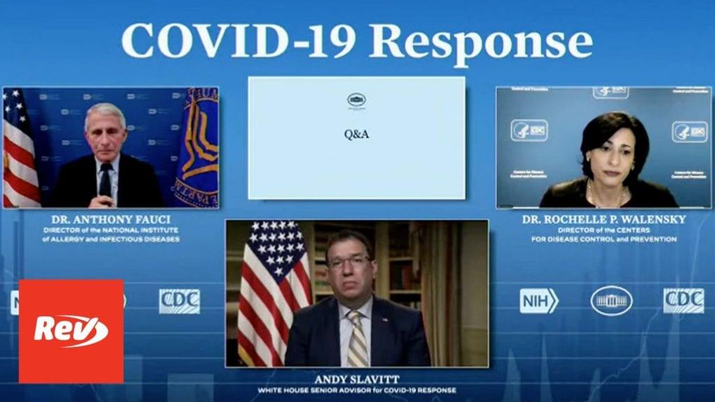 White House COVID-19 Task Force, Dr. Fauci Press Conference Transcript April 19