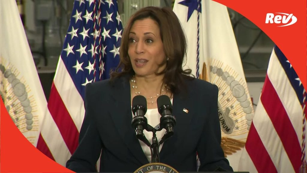 Kamala Harris Speech on American Jobs Plan Transcript North Carolina April 19