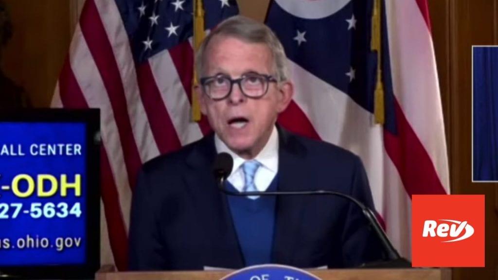 Ohio Gov. Mike DeWine COVID-19 Press Conference Transcript April 21