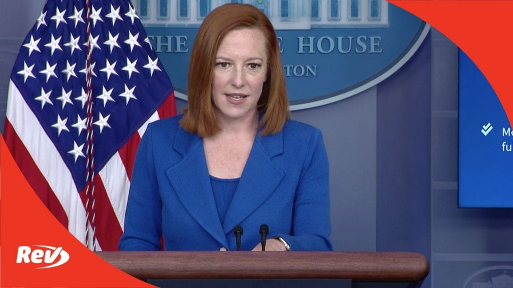 Press Secretary Jen Psaki White House Press Conference Transcript April 19