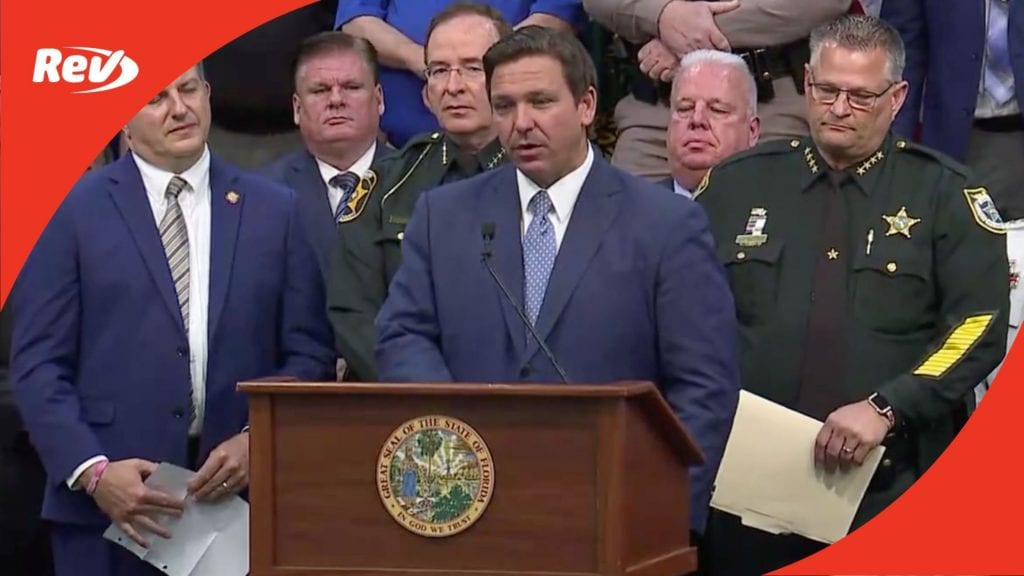 Florida Governor Ron DeSantis Press Conference Transcript April 19: Signs Anti-Riot Bill