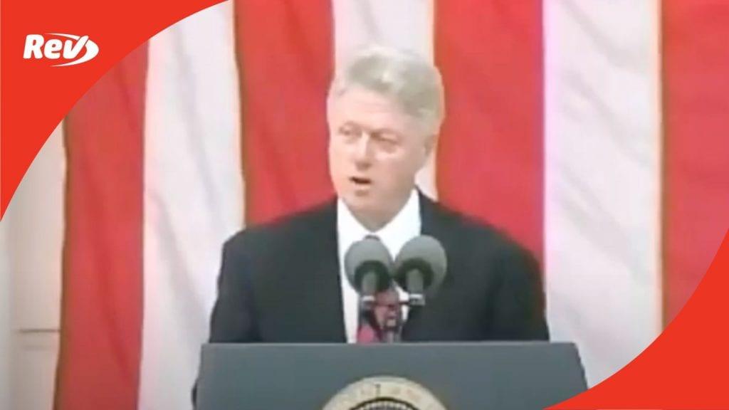 President Bill Clinton Memorial Day Speech 2000