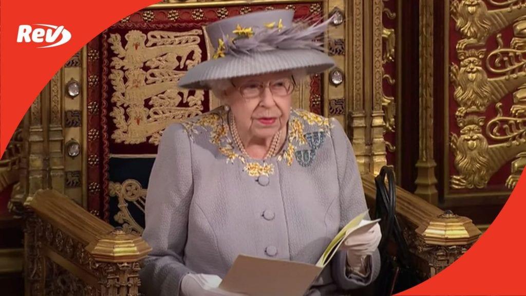 Queen Elizabeth II Speech Transcript State Opening of Parliament