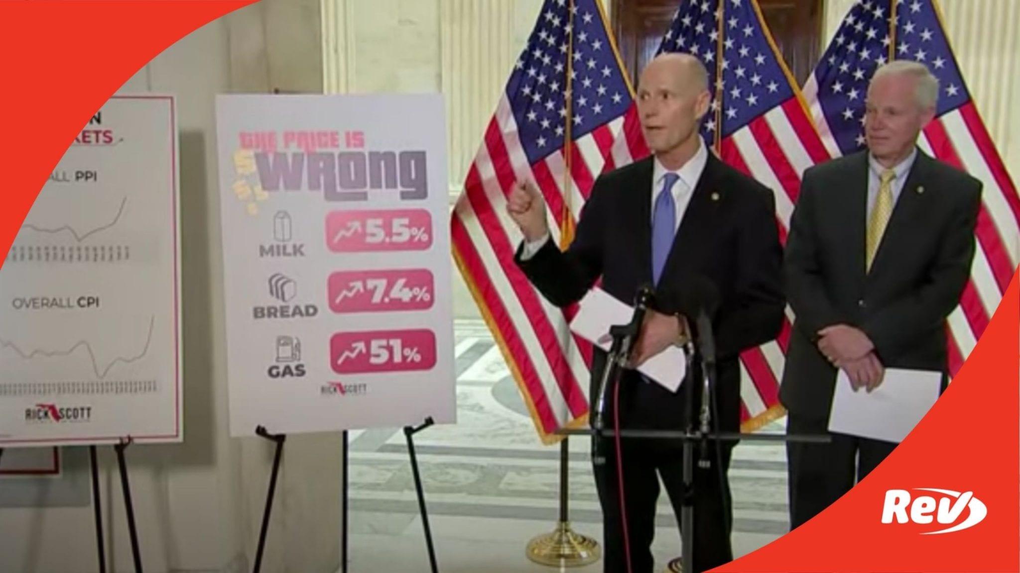 Senate Republicans Press Conference on Inflation, Biden's Legislation Transcript