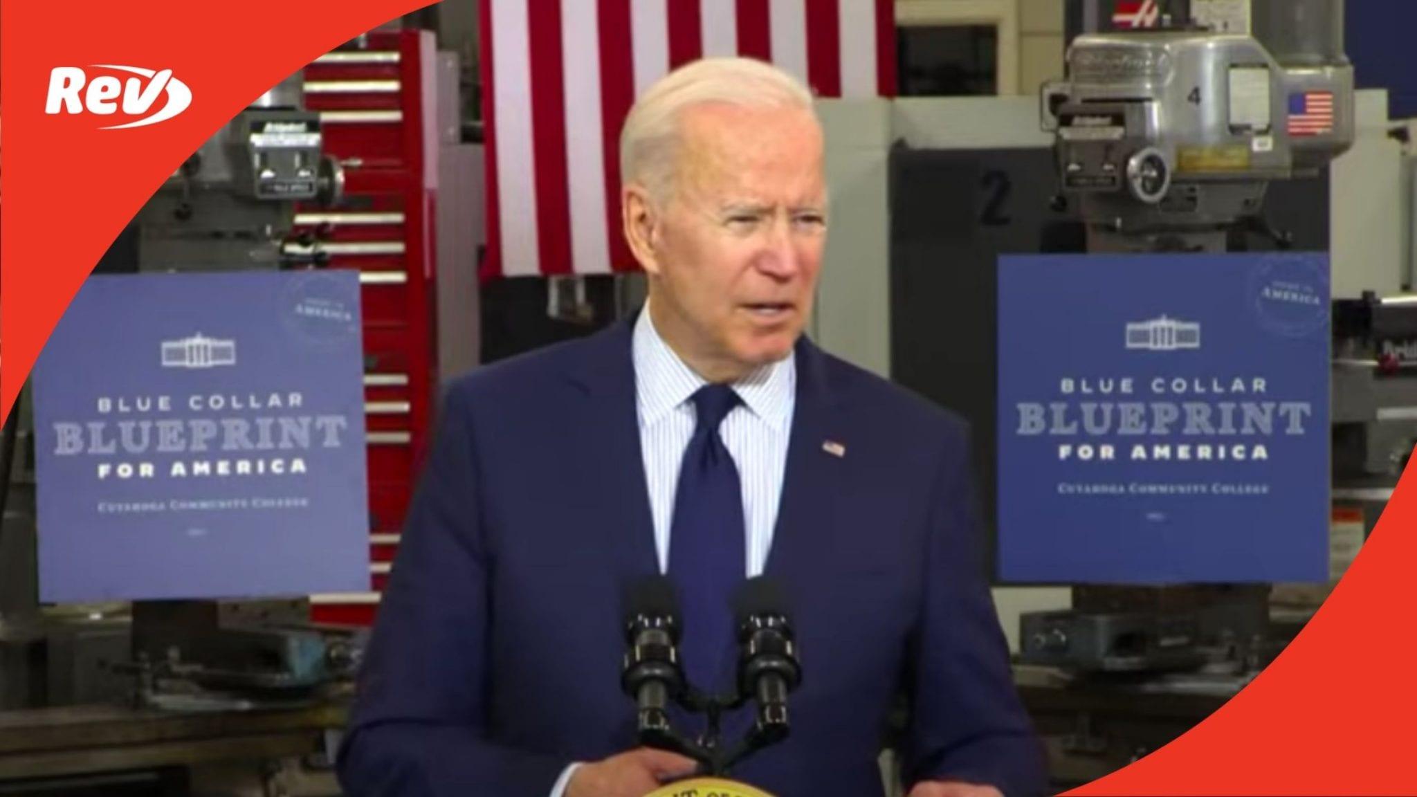 Joe Biden Cleveland Speech Transcript May 27: Economy, Infrastructure