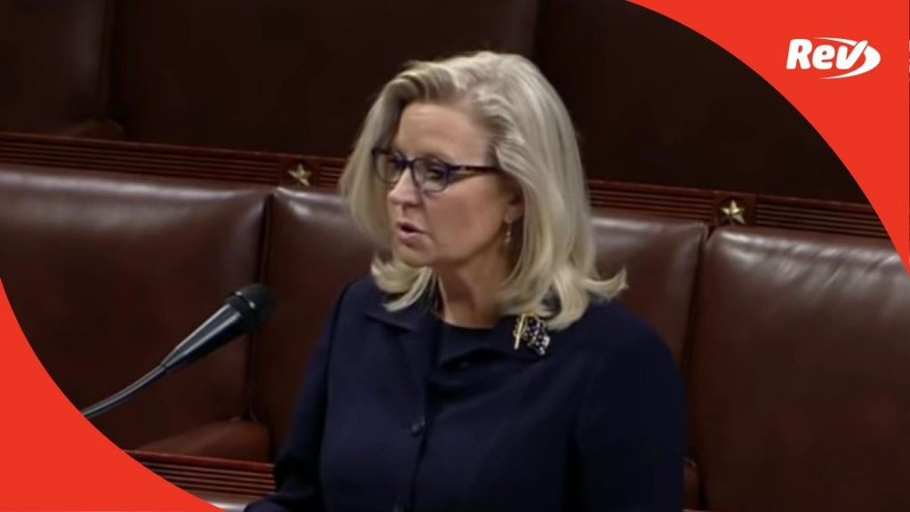 Liz Cheney Speech Transcript Ahead of GOP Vote to Oust Her