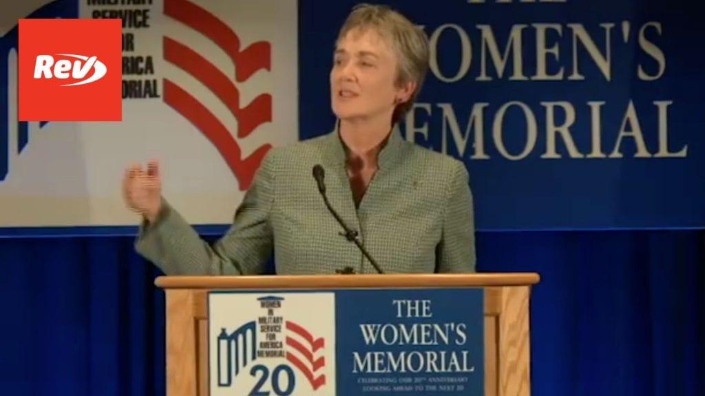 United States Air Force Secretary Heather Wilson WIMSA Speech 2017