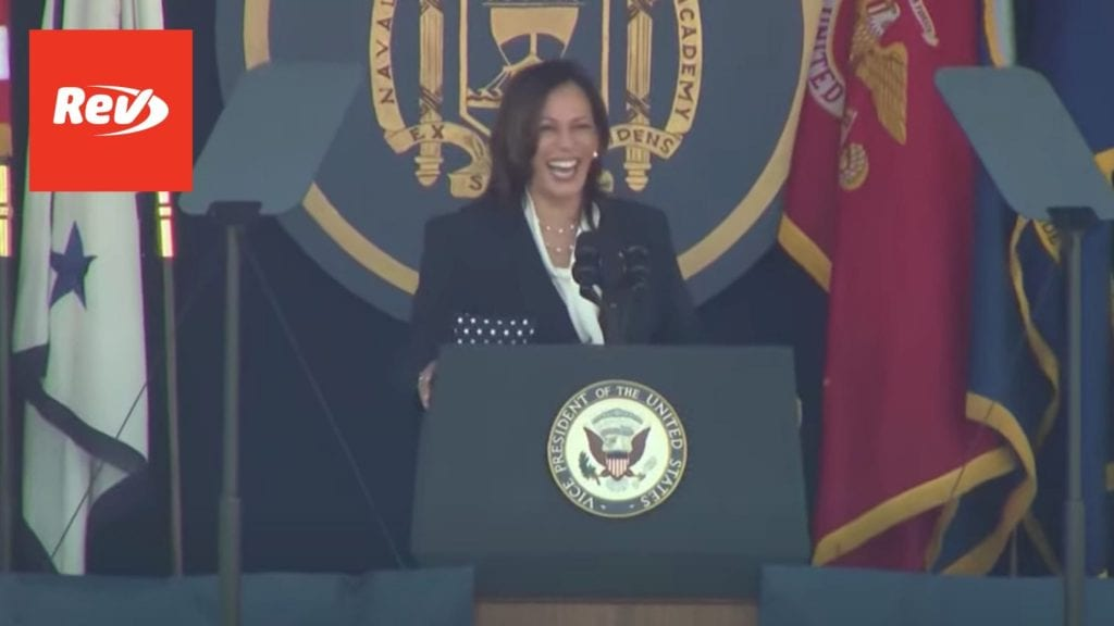 Kamala Harris U.S. Naval Academy Commencement Speech Transcript May 28