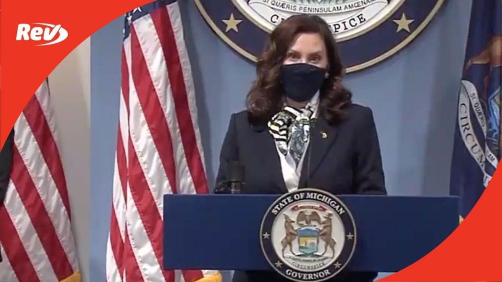 Michigan Governor Gretchen Whitmer COVID-19 Press Conference Transcript May 12