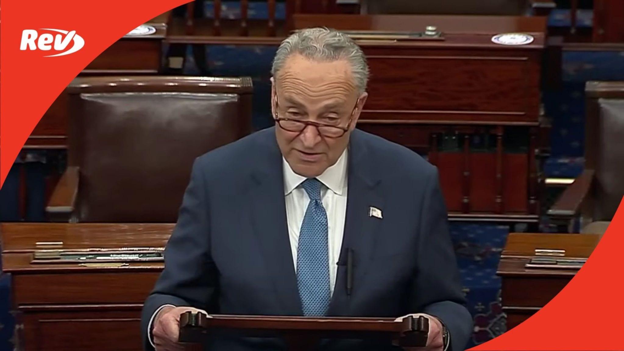 "Chuck Schumer Jan. 6 Commission Vote Speech Transcript: ""Shame on the Republican Party"""
