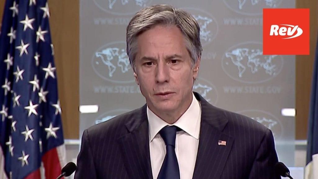 Secretary of State Antony Blinken Religious Freedom Report, Israel Briefing Transcript