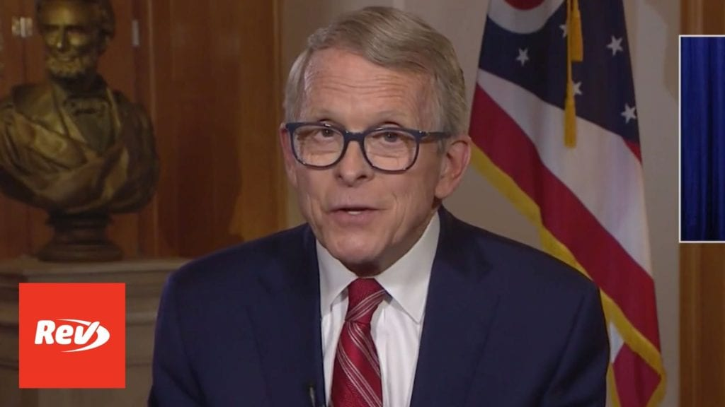 Ohio Gov. Mike DeWine COVID-19 Speech Address Transcript May 12