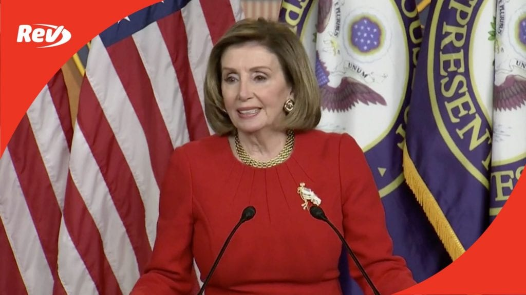 House Speaker Nancy Pelosi Weekly Press Conference Transcript May 13
