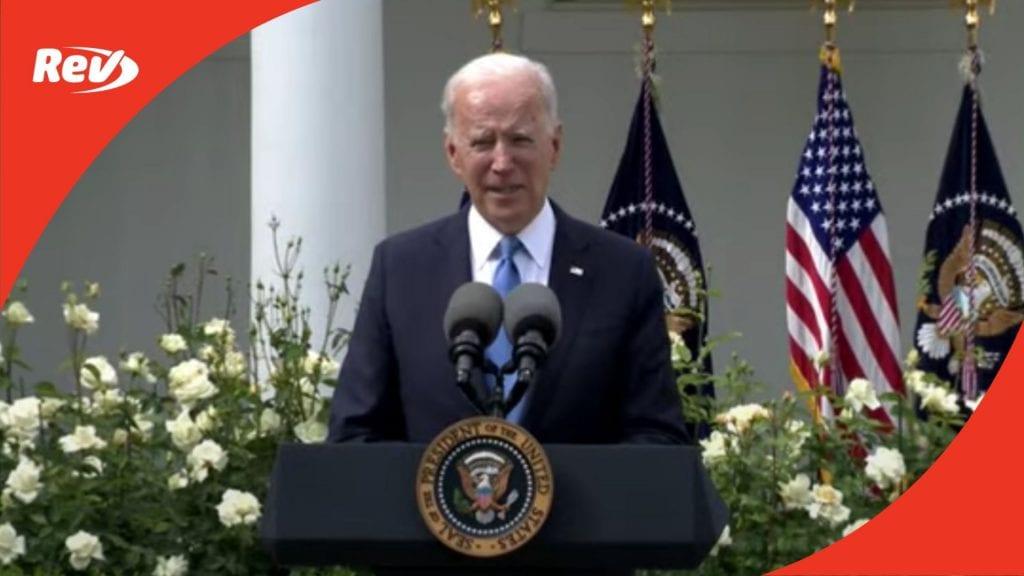 Joe Biden Speech Transcript: Fully Vaccinated Americans No Longer Need to Wear Masks