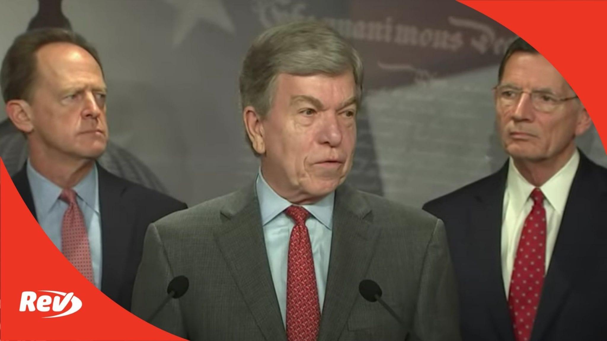 Senate Republicans Infrastructure Plan Press Conference Transcript May 27