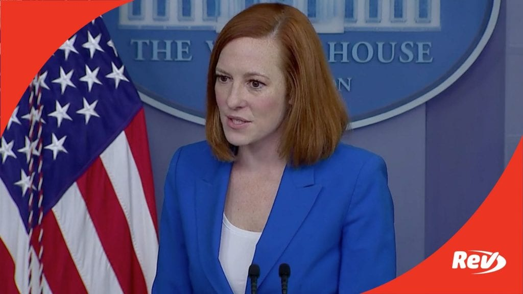 Press Secretary Jen Psaki White House Press Conference Transcript May 17