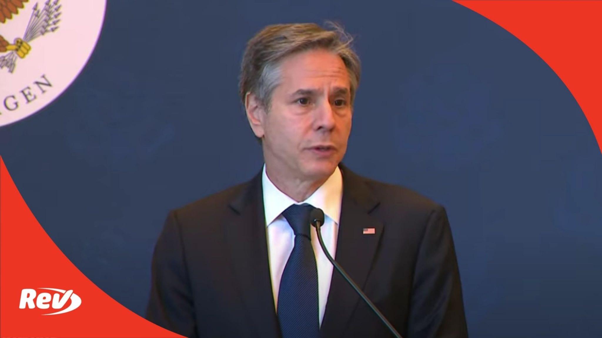 Secretary of State Antony Blinken Denmark Visit Speech Transcript May 17