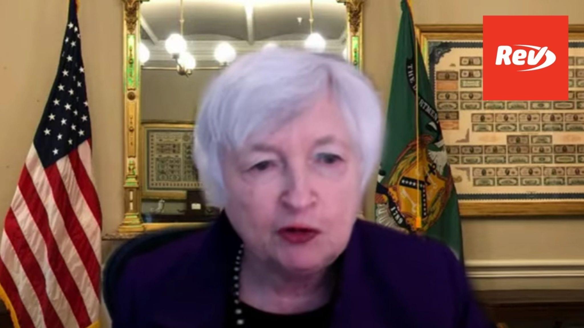 Janet Yellen Testimony on Inflation, Treasury Department Funding Transcript May 27