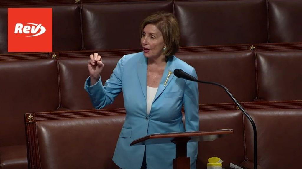 Speaker Nancy Pelosi House Floor Speech Transcript: January 6 Commission