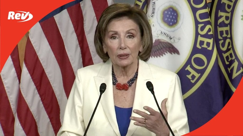 House Speaker Nancy Pelosi Weekly Press Conference Transcript May 20