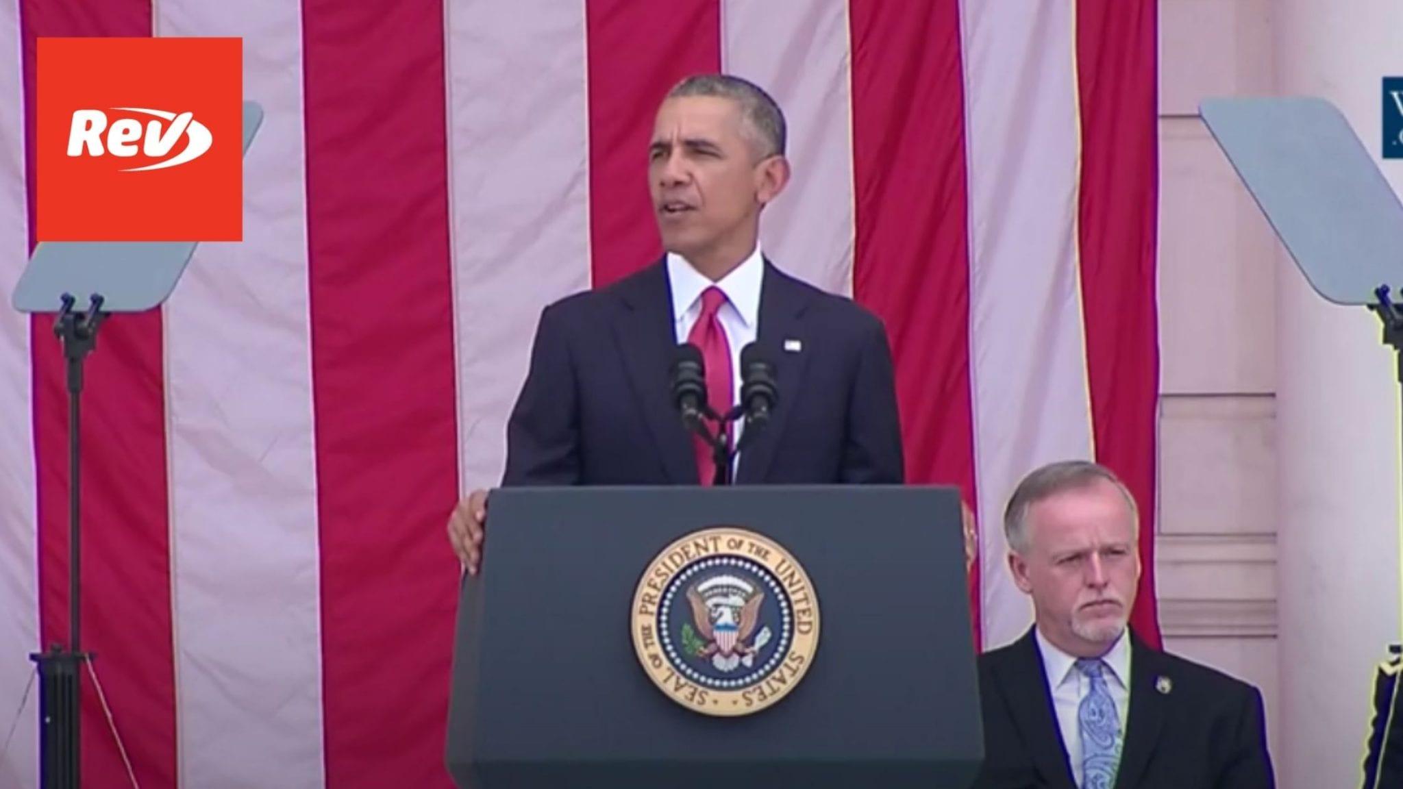 President Barack Obama Memorial Day Speech 2016
