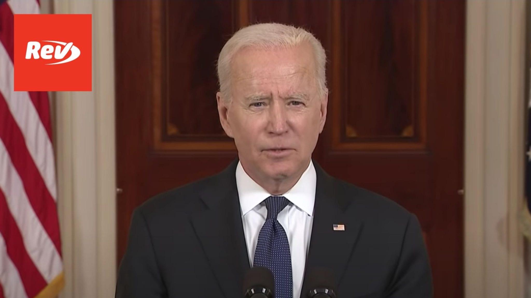 Joe Biden Israel-Hamas Ceasefire Speech Transcript