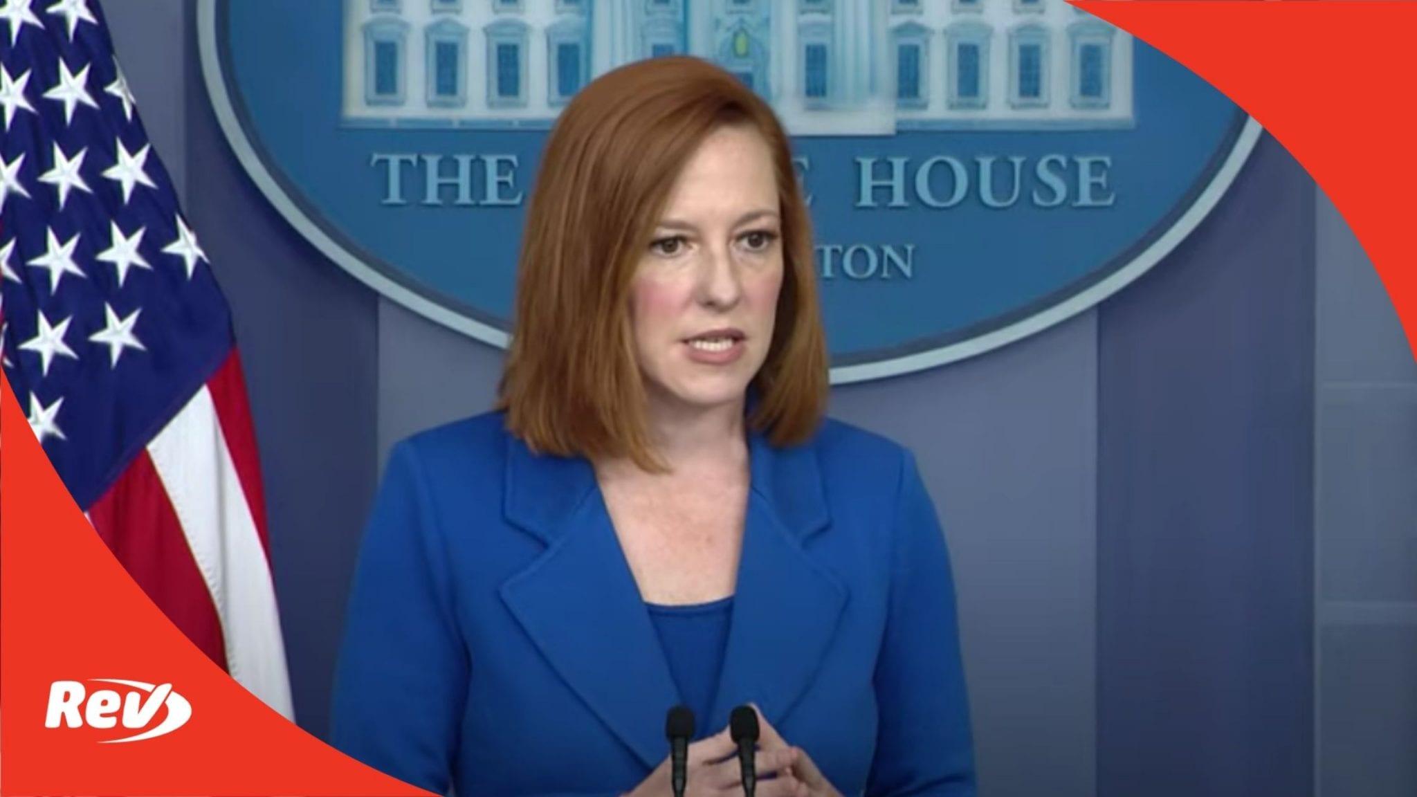 Press Secretary Jen Psaki White House Press Conference Transcript May 24