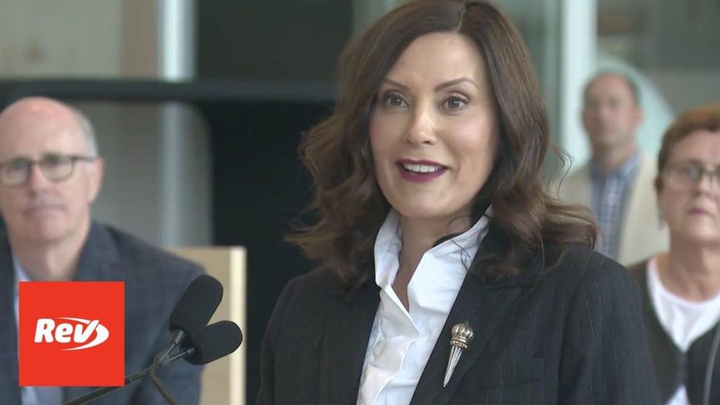 Michigan Gov. Gretchen Whitmer Press Conference Transcript May 24: Return-to-Work Guidelines