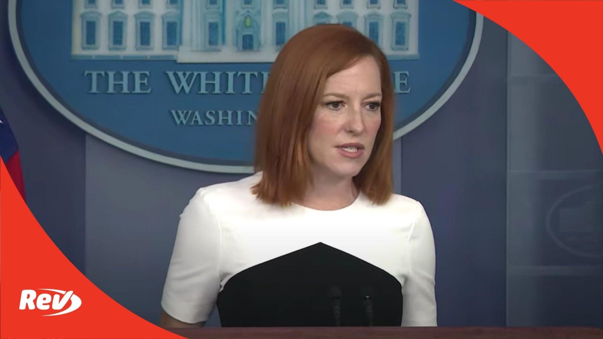 Press Secretary Jen Psaki White House Press Conference Transcript May 5