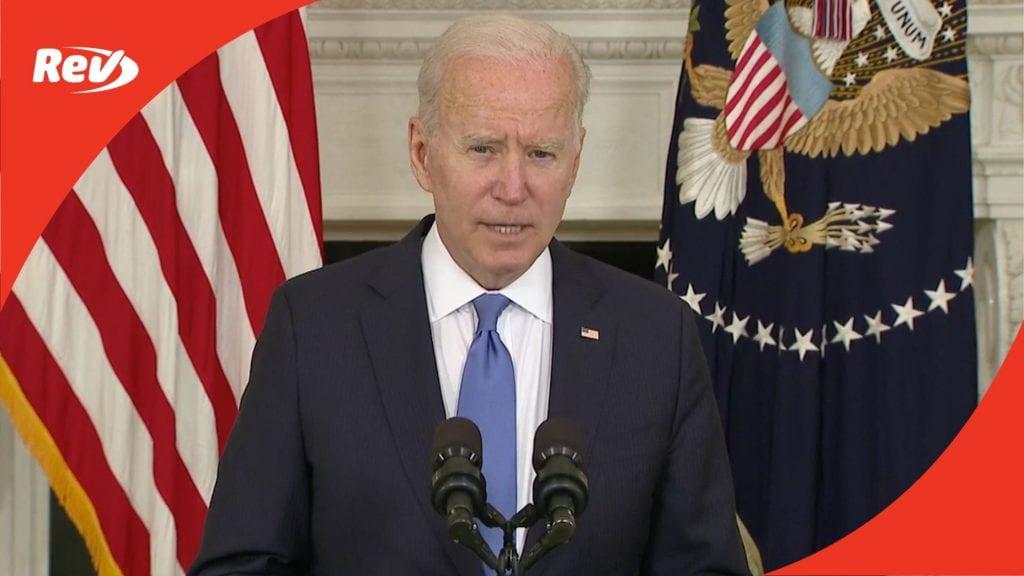 Joe Biden Press Briefing Transcript American Rescue Plan May 5