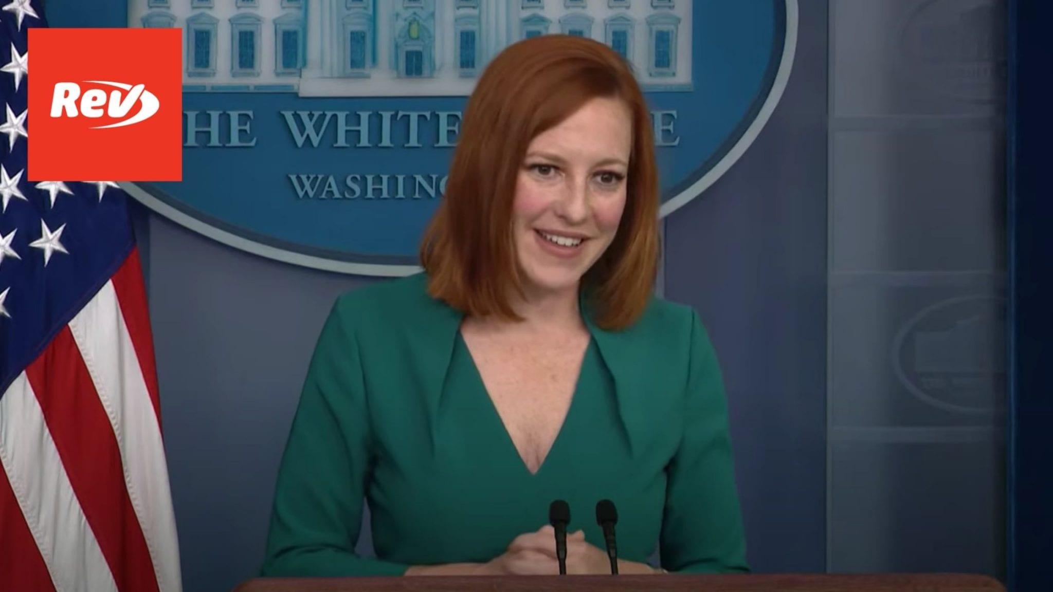 Press Secretary Jen Psaki White House Press Conference Transcript May 25