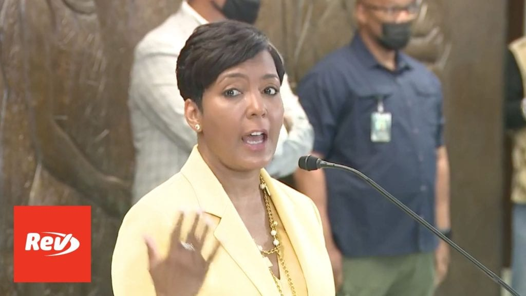 Atlanta Mayor Keisha Lance Bottoms Not Running for Reelection Press Conference Transcript