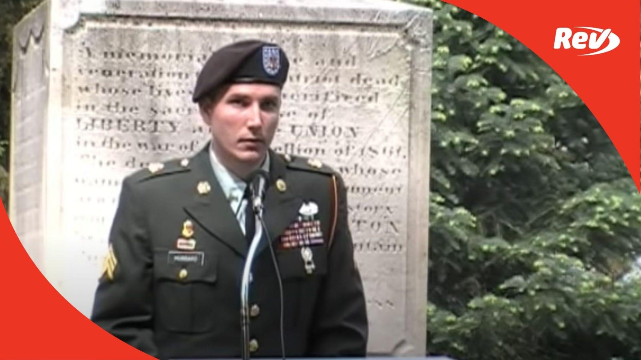 Sgt. Raymond Hubbard Memorial Day Speech 2008