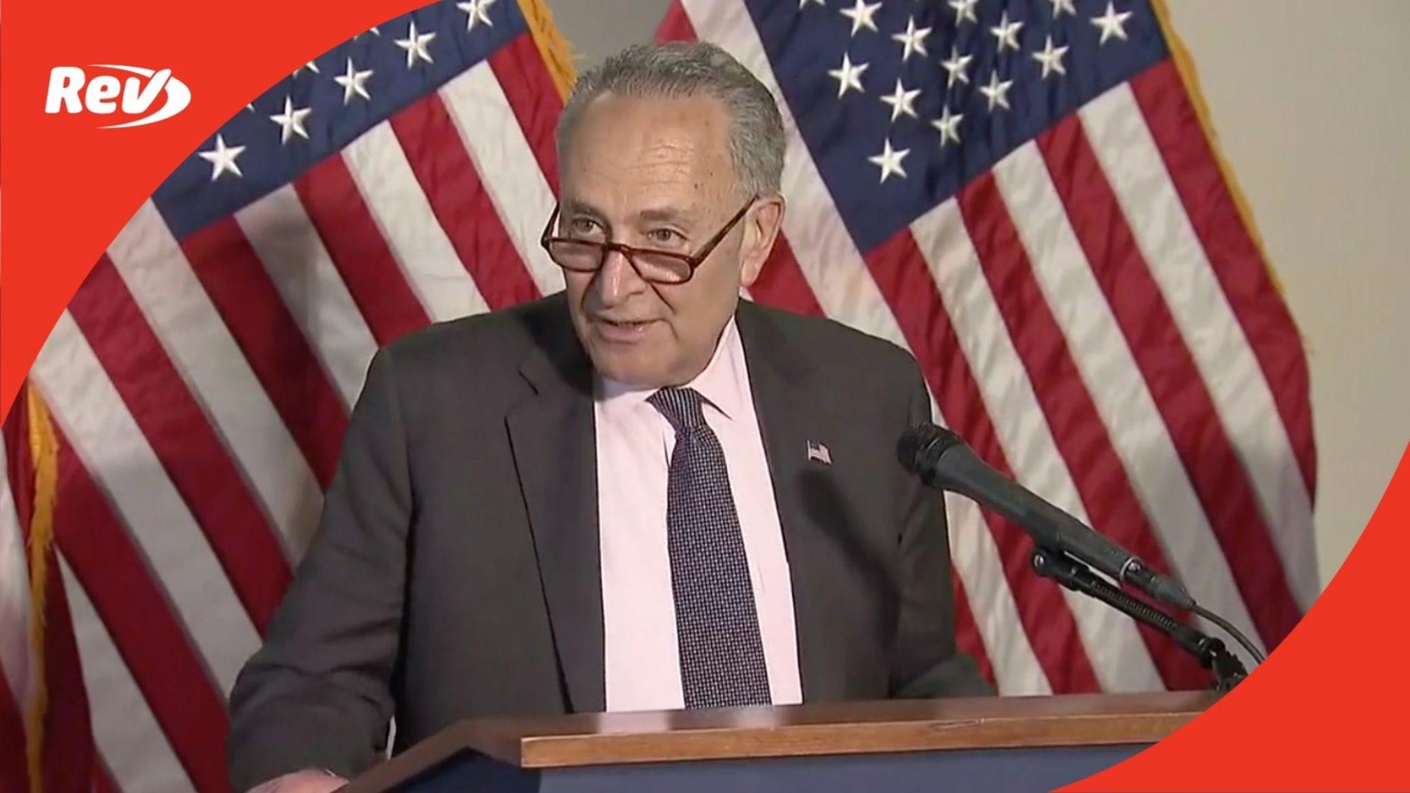Chuck Schumer, Senate Democratic Leadership Press Conference Transcript May 25