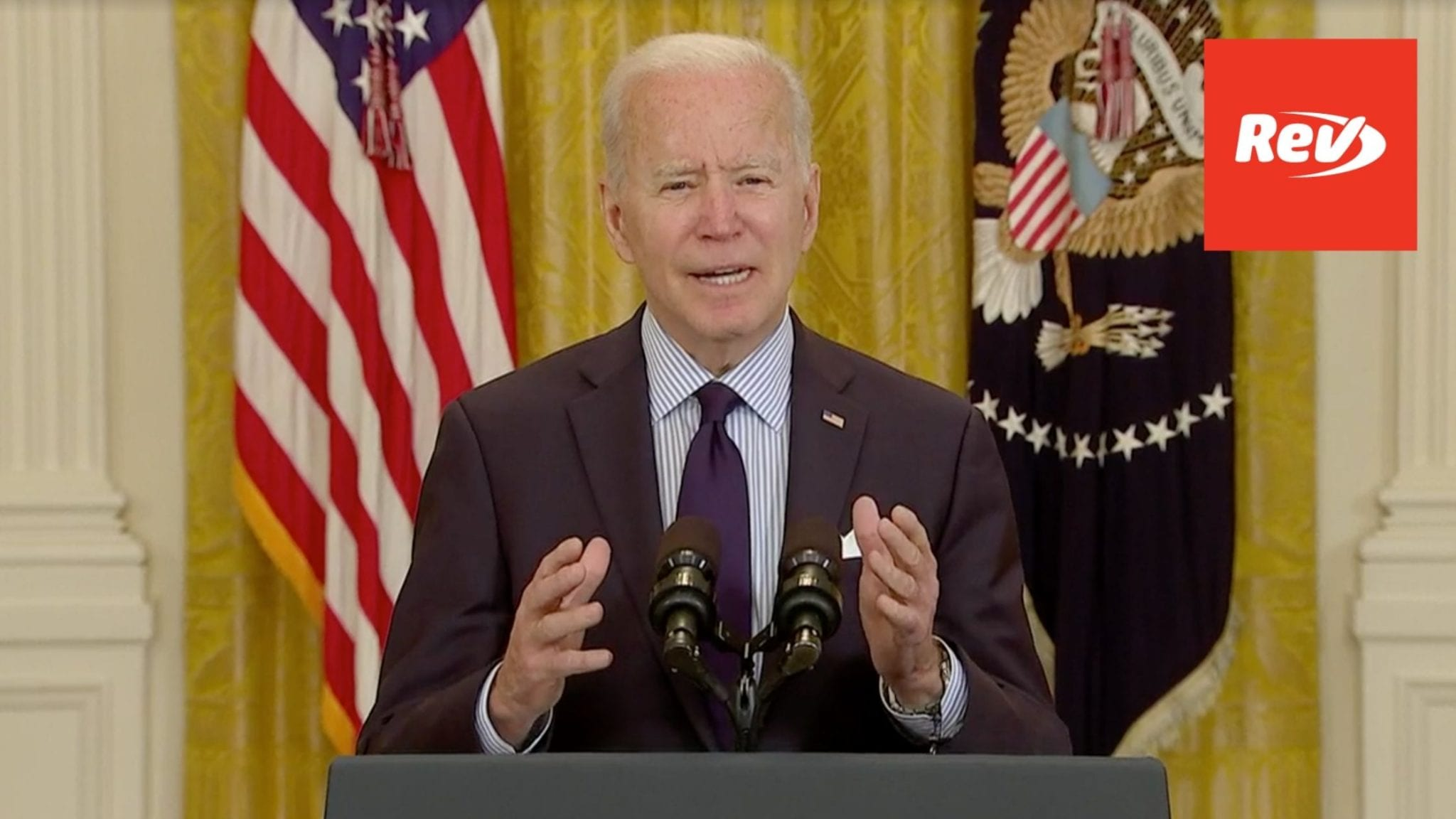 Joe Biden April Jobs Report Speech Briefing Transcript