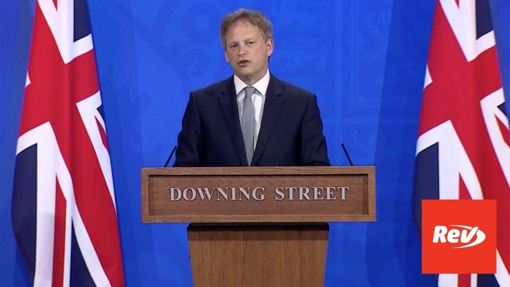 UK Green List Countries Downing Street Press Conference Grant Shapps Transcript