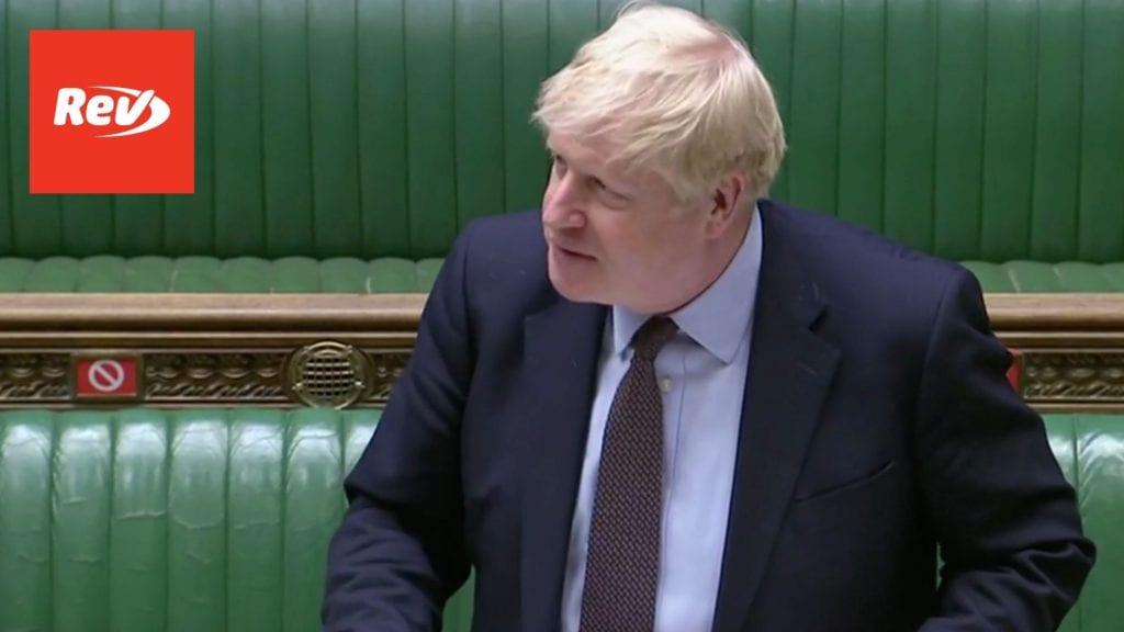 Boris Johnson Questioned on COVID-19 Response PMQs Transcript May 26