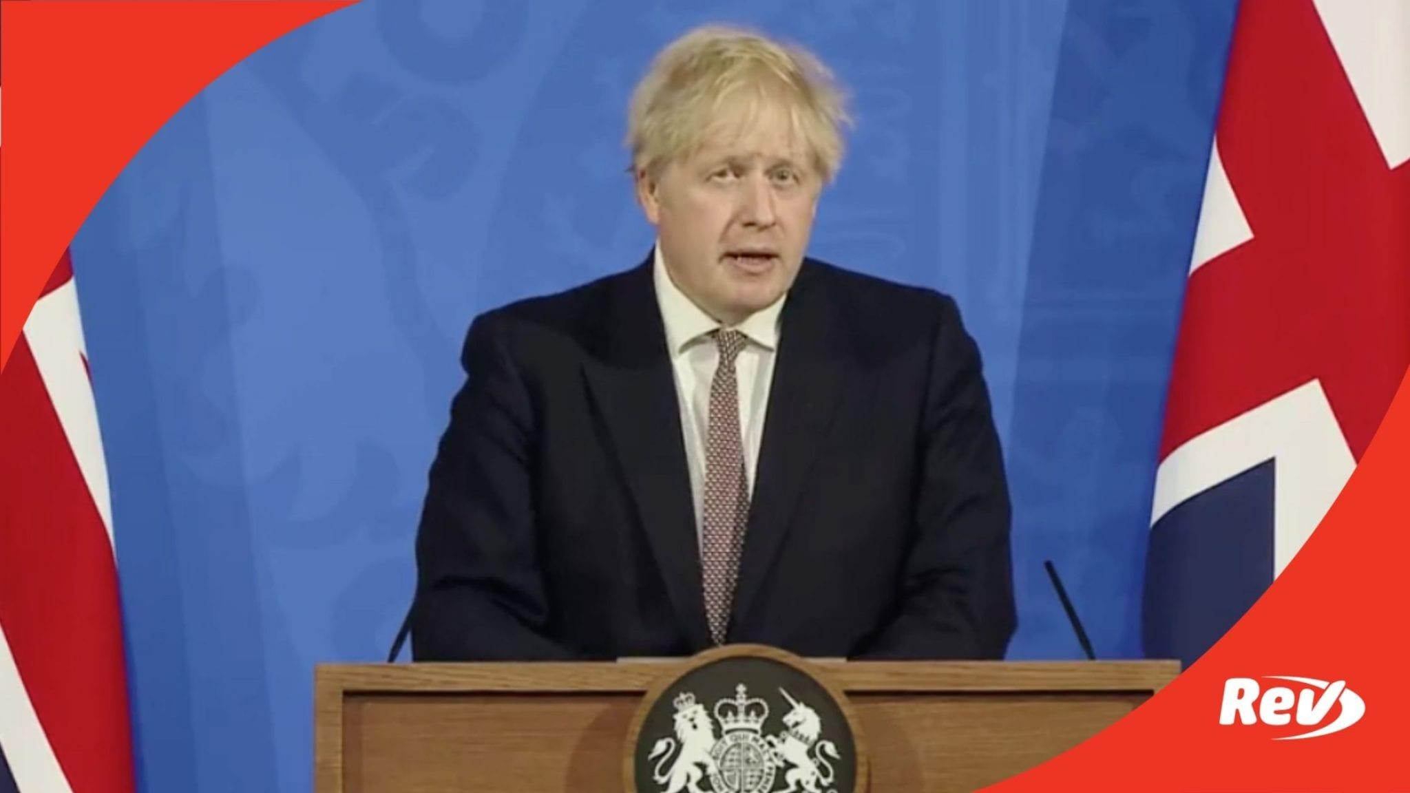 UK Prime Minister Boris Johnson COVID-19 Press Conference Transcript May 10