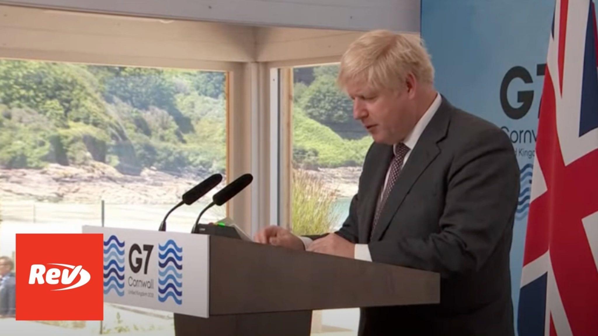 Boris Johnson G7 Speech Transcript 2021