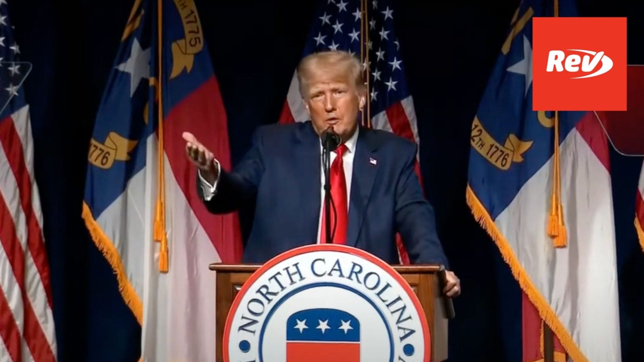 Donald Trump Speech Transcript at North Carolina GOP Convention Dinner June 5 - Rev