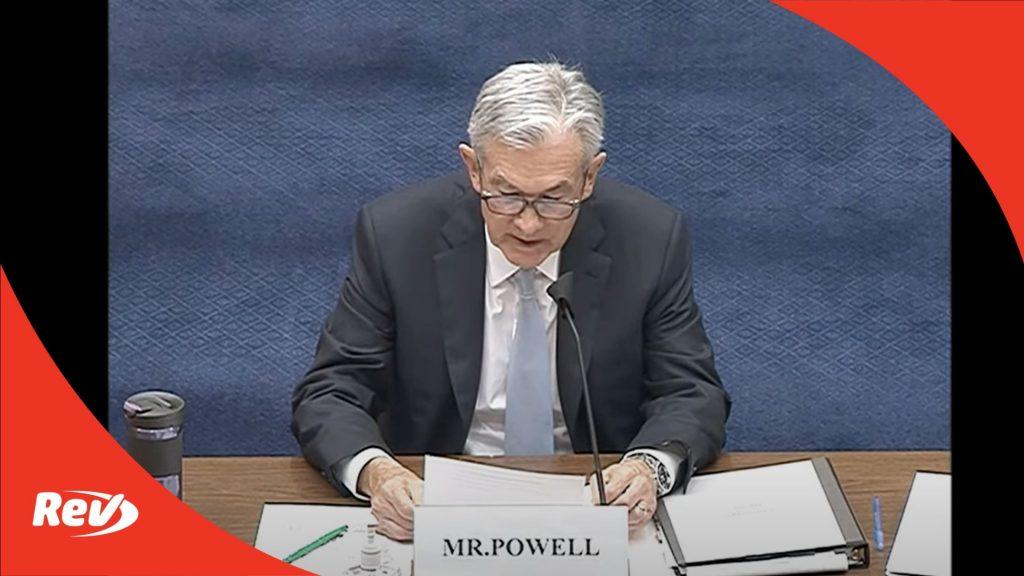 Jerome Powell Testimony Fed COVID Response
